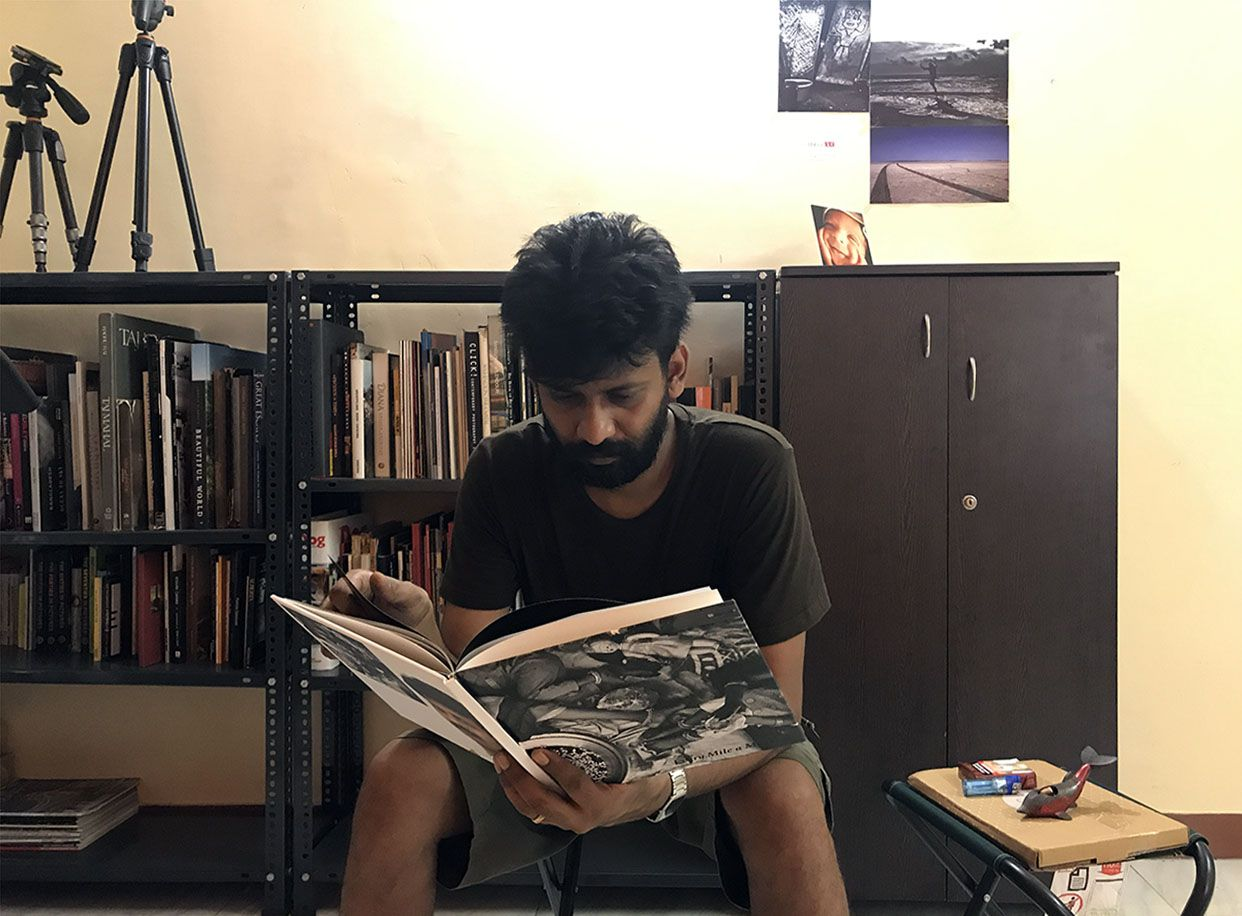 Udayan at his library